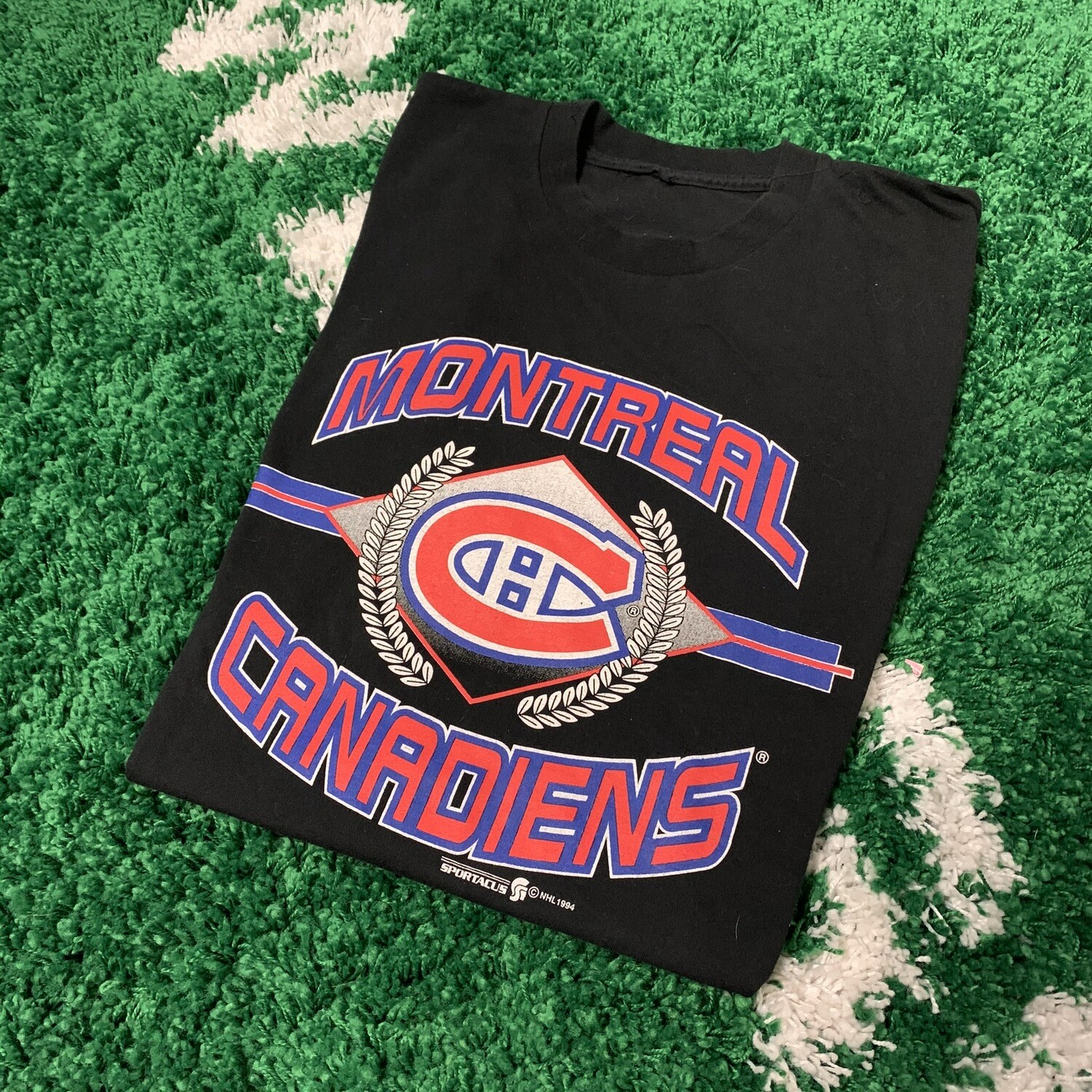 Montreal Canadiens T-Shirt 90's Black Size XL