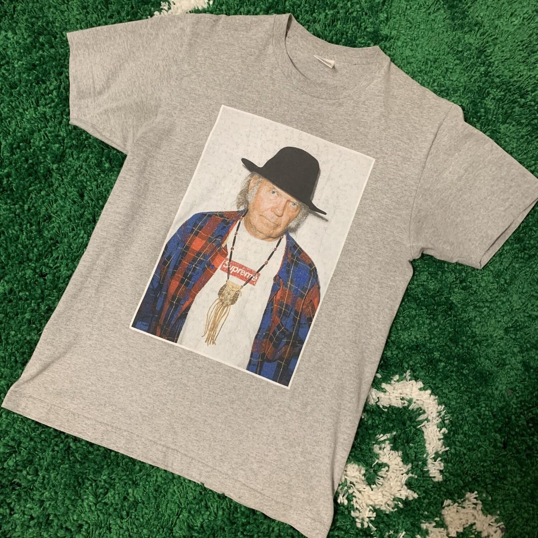 Supreme Neil Young Tee Grey Size Medium
