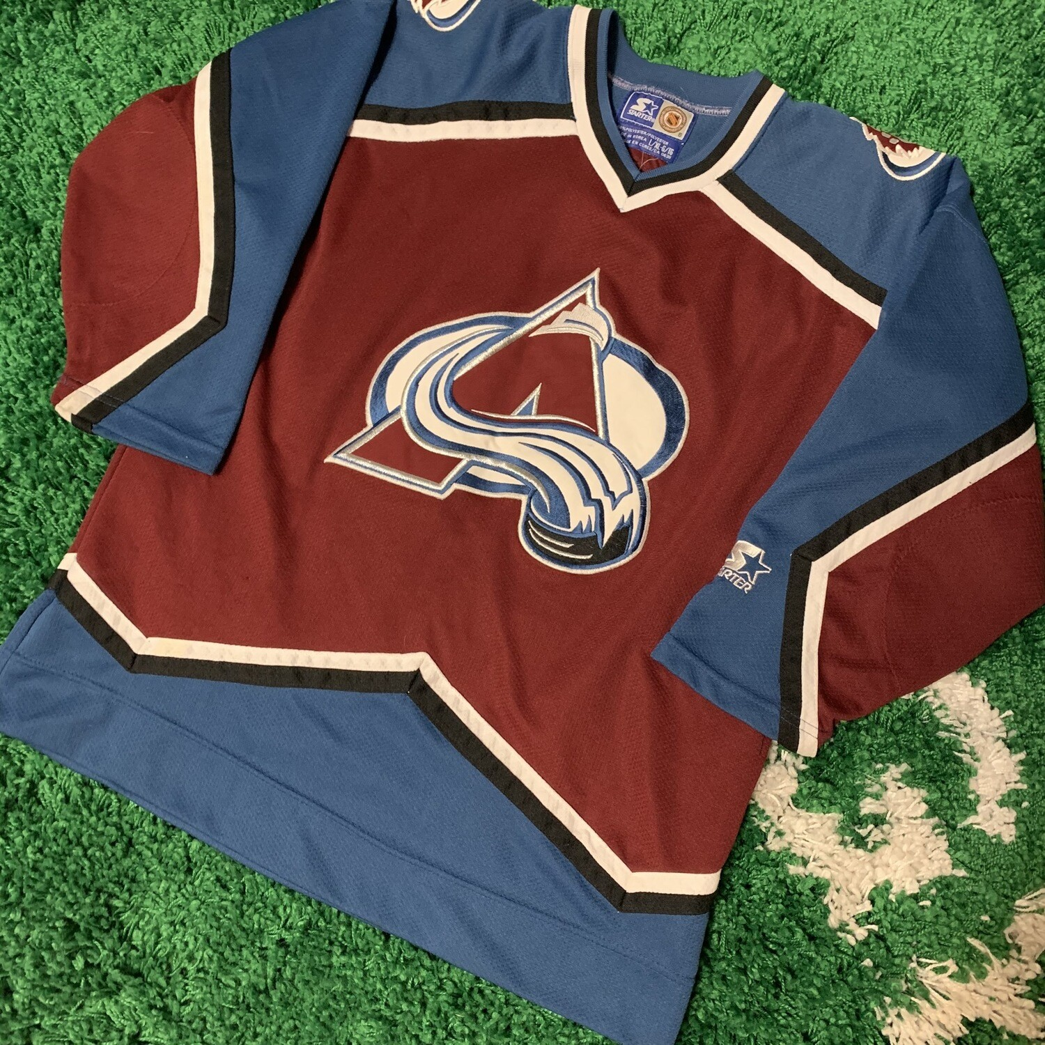 90s Colorado Avalanche Starter Jersey Size Small