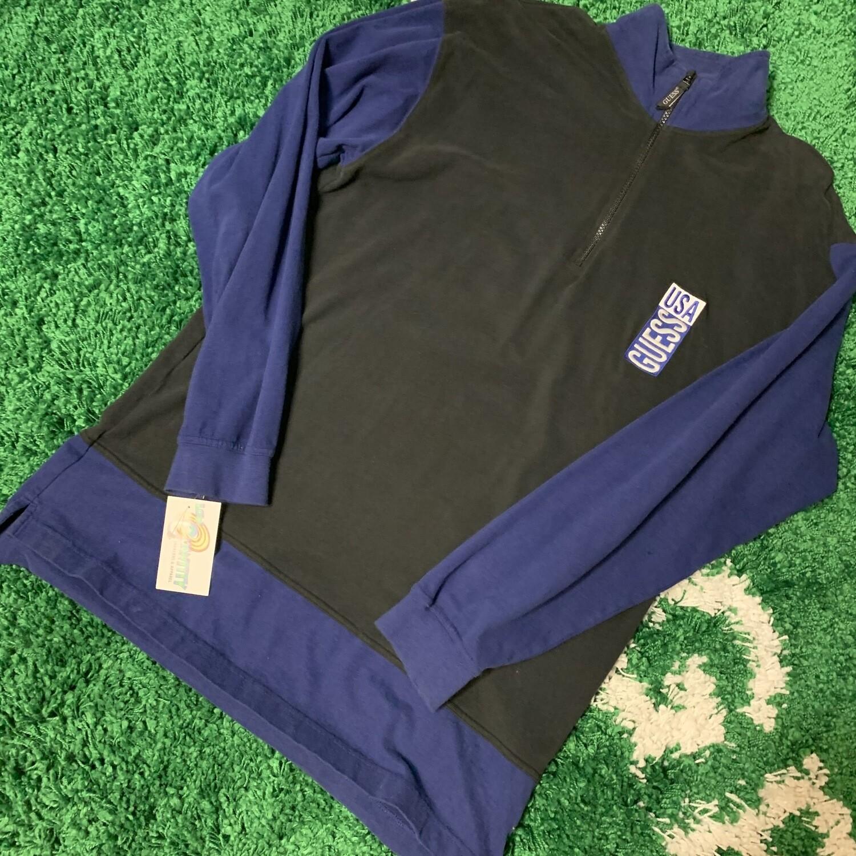 90s Guess Half Zip Sweater Size XL