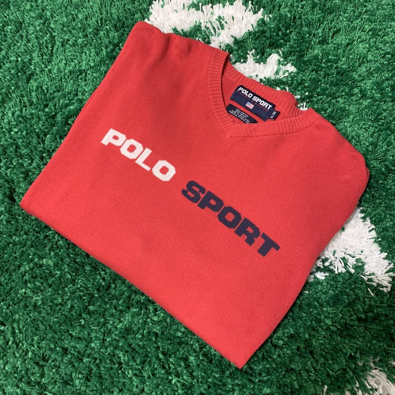 Vintage Polo Sport Knit Sweater Size Large