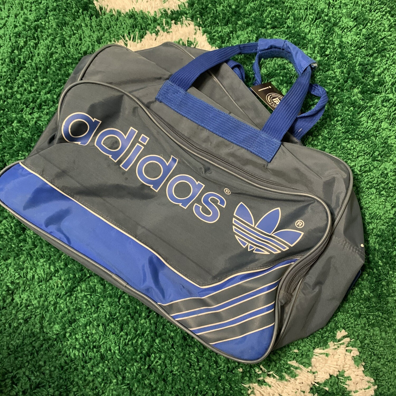 90s Adidas Blue Duffle Bag