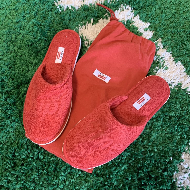 Supreme Frette Slippers Red Size 10-12