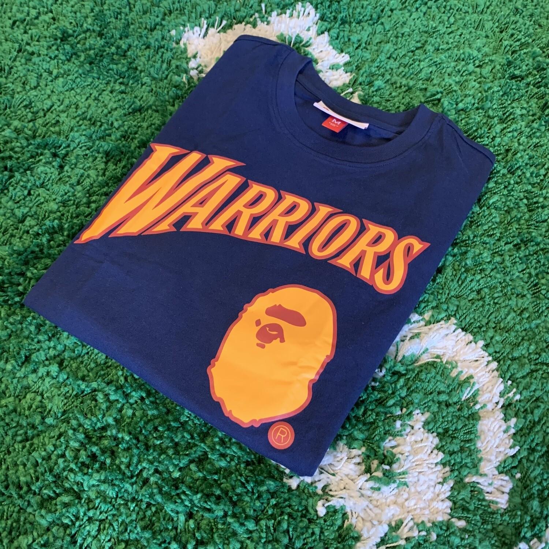 Bape NBA Warriors Shirt Size M