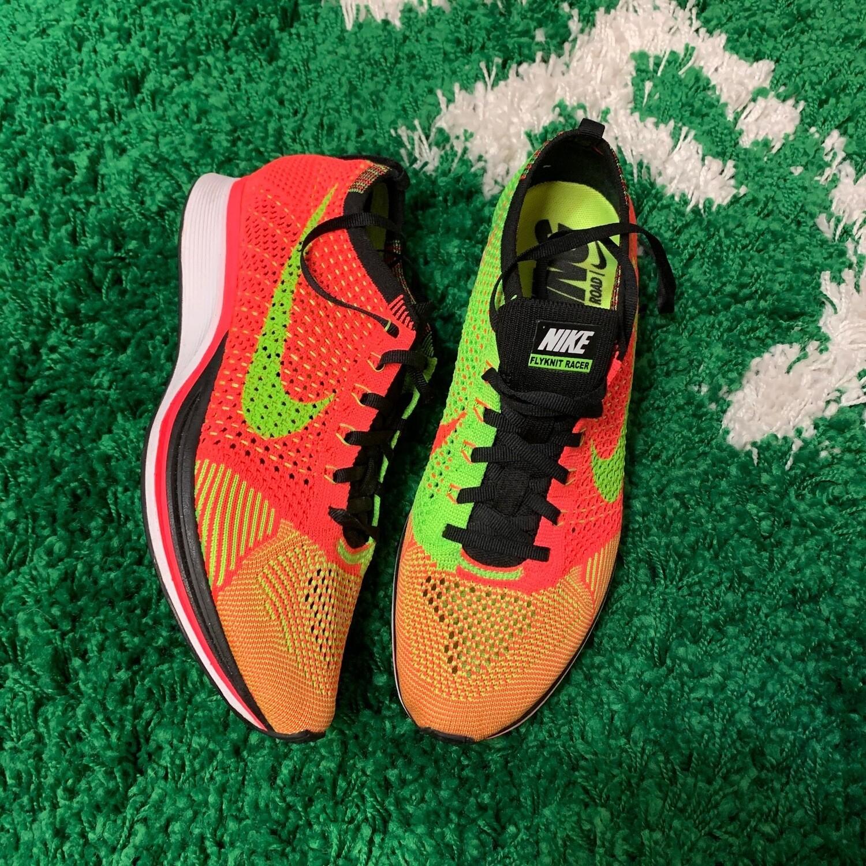 Nike Flyknit Racer Hyper Punch Size 8.5