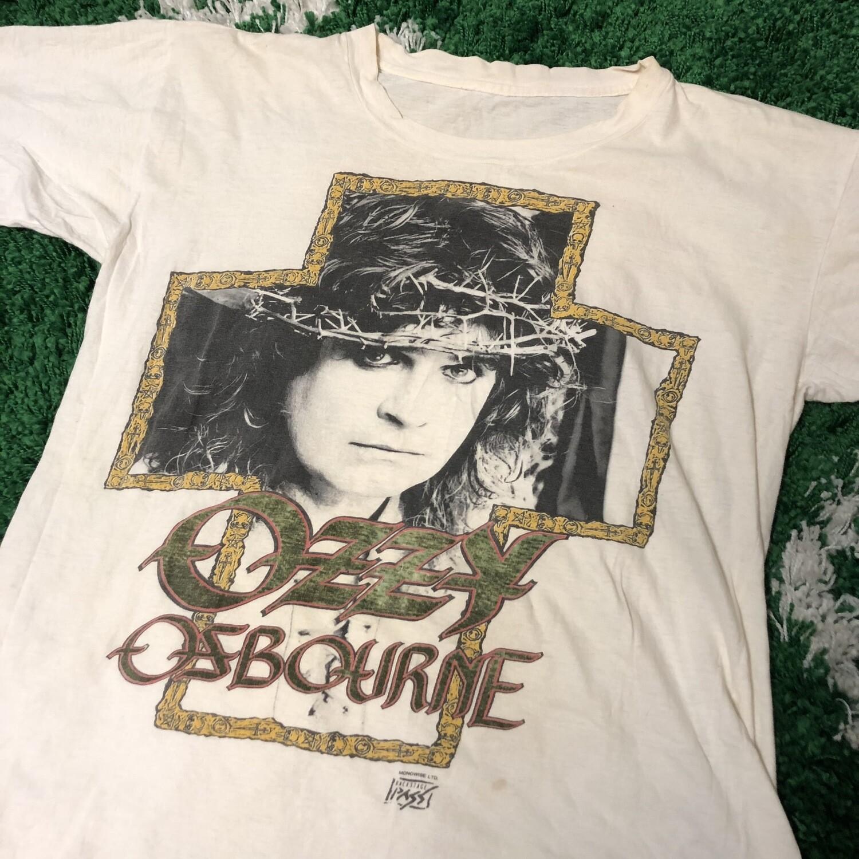 Ozzy Osbourne Tour T-Shirt White Size Large