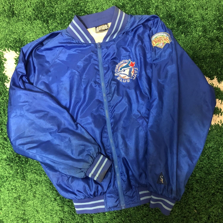 Toronto Blue Jays Satin Jacket Size Medium