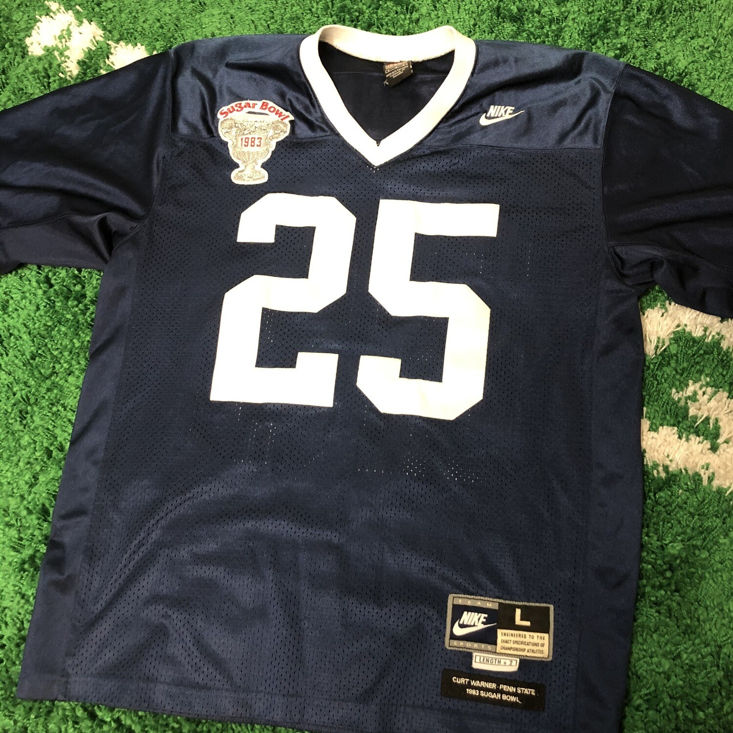 Nike Sugar Bowl 1983 Warner Jersey Size Large