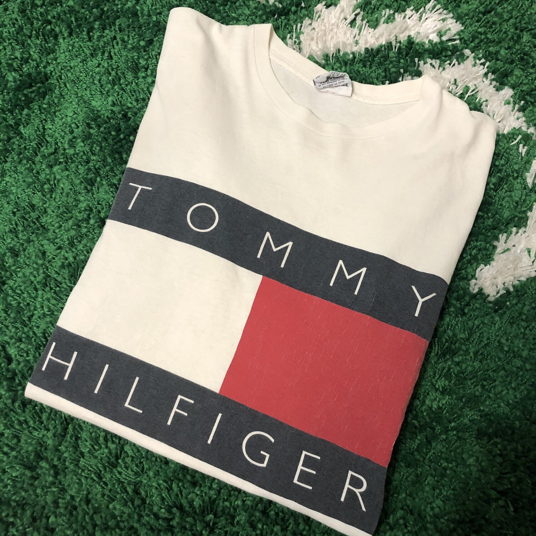 Tommy Hilfiger Big Flag Logo Shirt Size XL