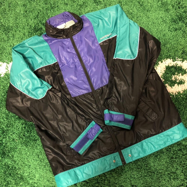 Adidas Jacket Black Purple Green Size Large