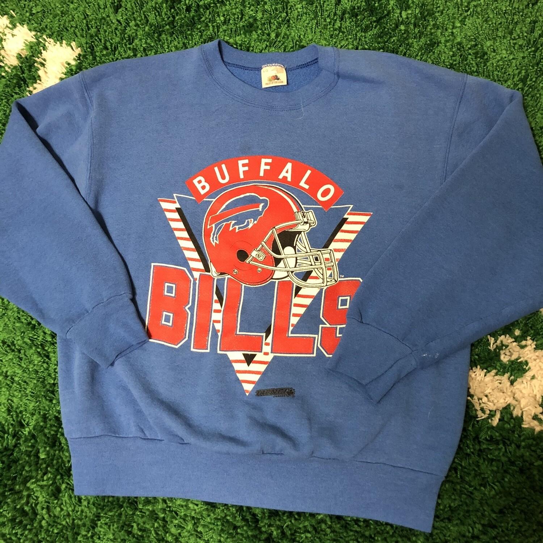 Buffalo Bills Crewneck Vintage Blue Size Medium