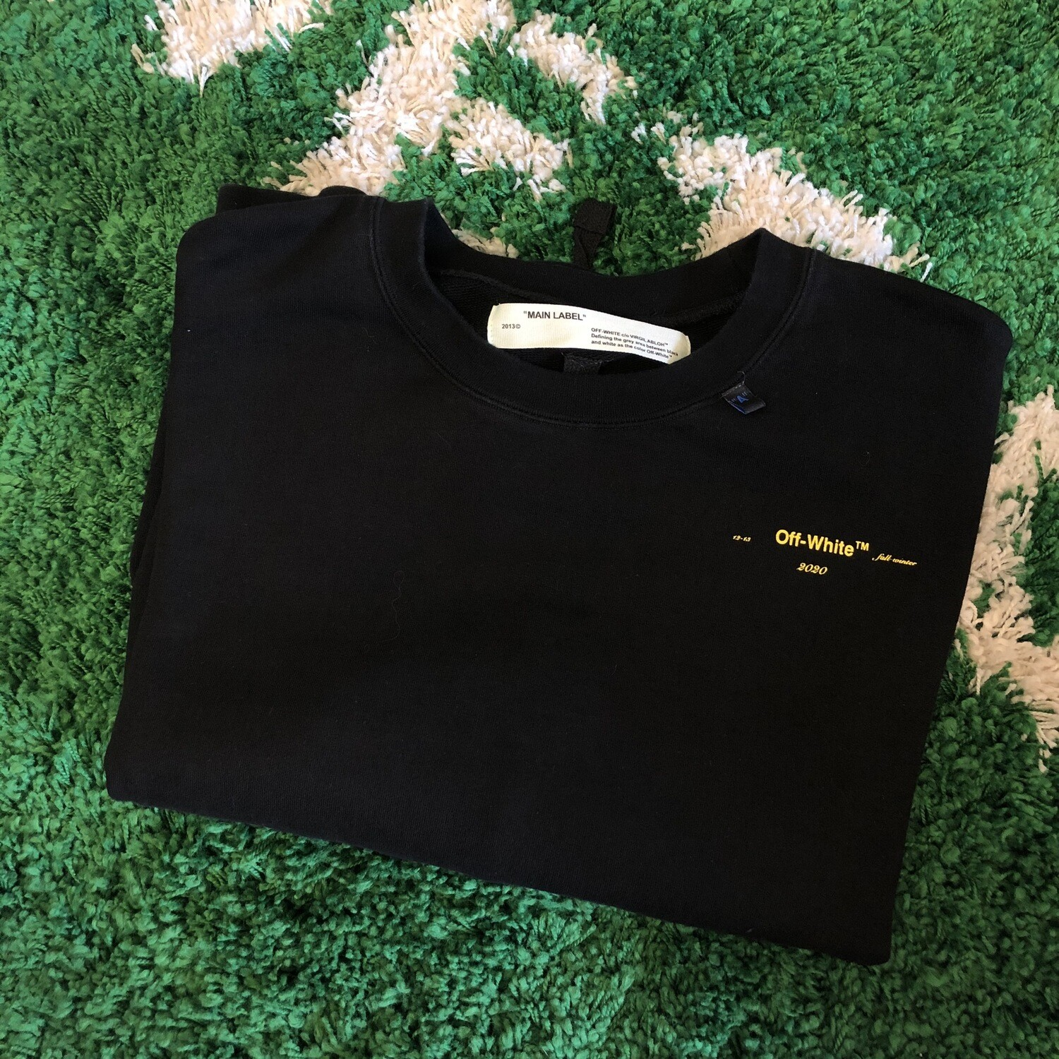 Off-White Painted Crewneck Black Size Large