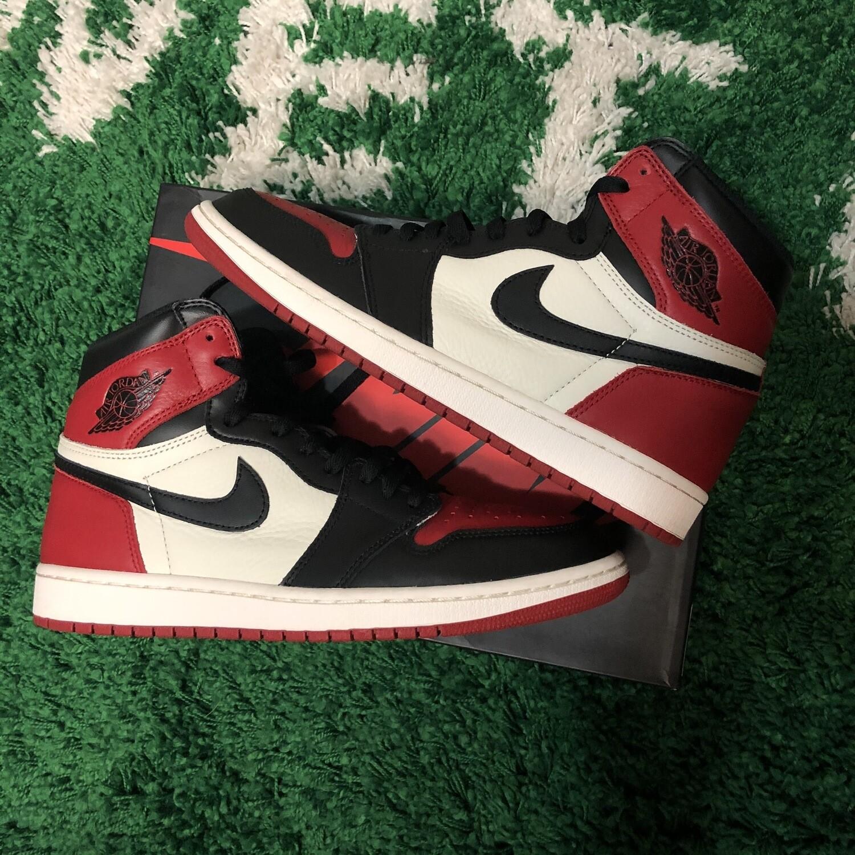Air Jordan 1 Bred Toe Size 9.5