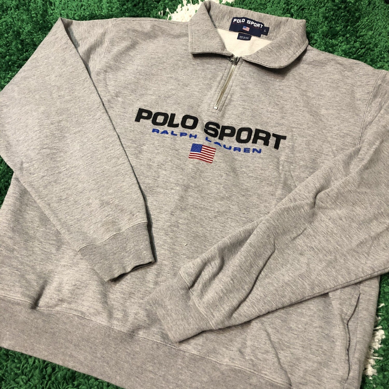 Polo Sport Quarter Zip Size Medium