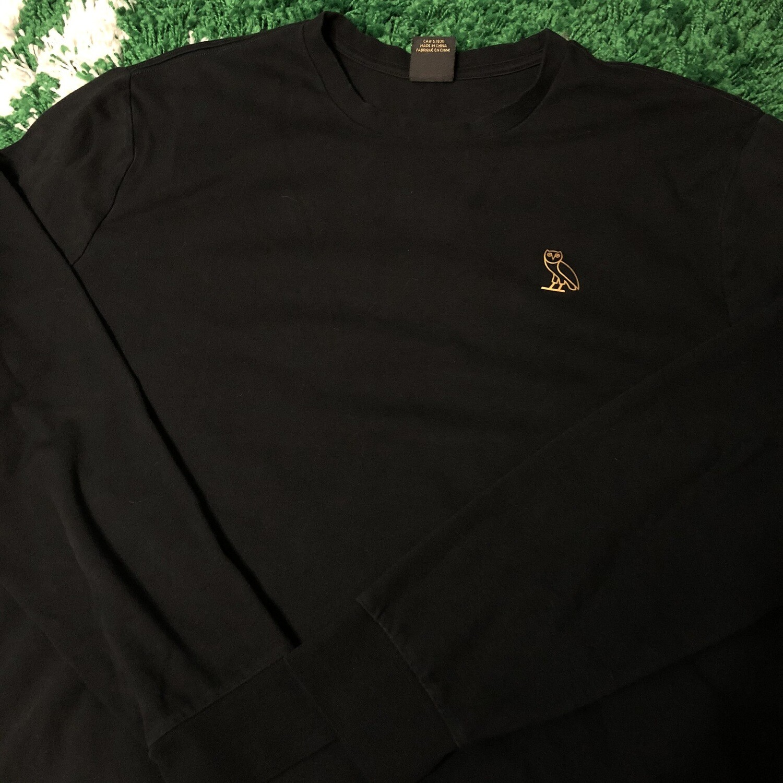 OVO Essentials Long Sleeve Shirt Black Size XXL