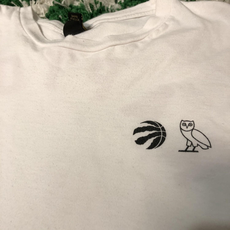 OVO Raptors Long Sleeve Shirt White Size XXL