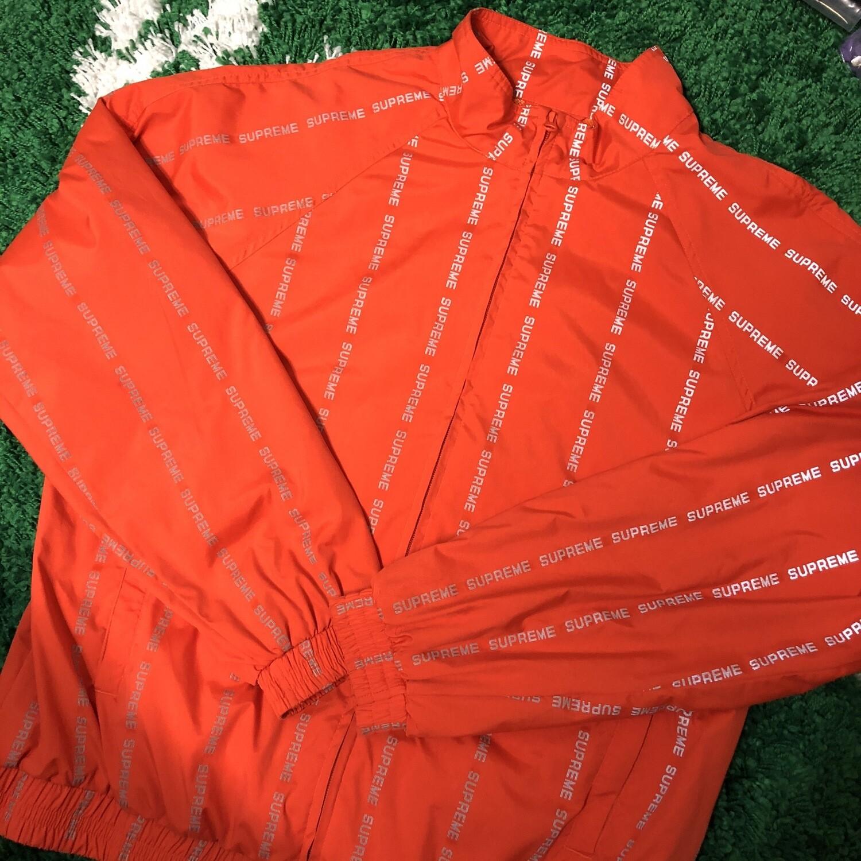 Supreme Reflective Track Jacket Orange Size XL