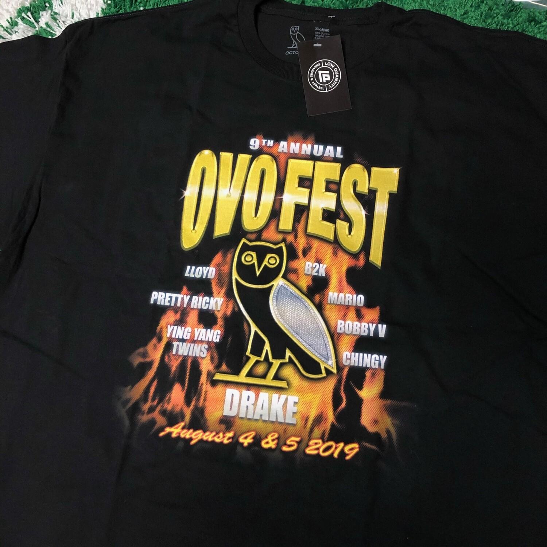OVO Fest 2019 Double Sided Shirt Size XXL