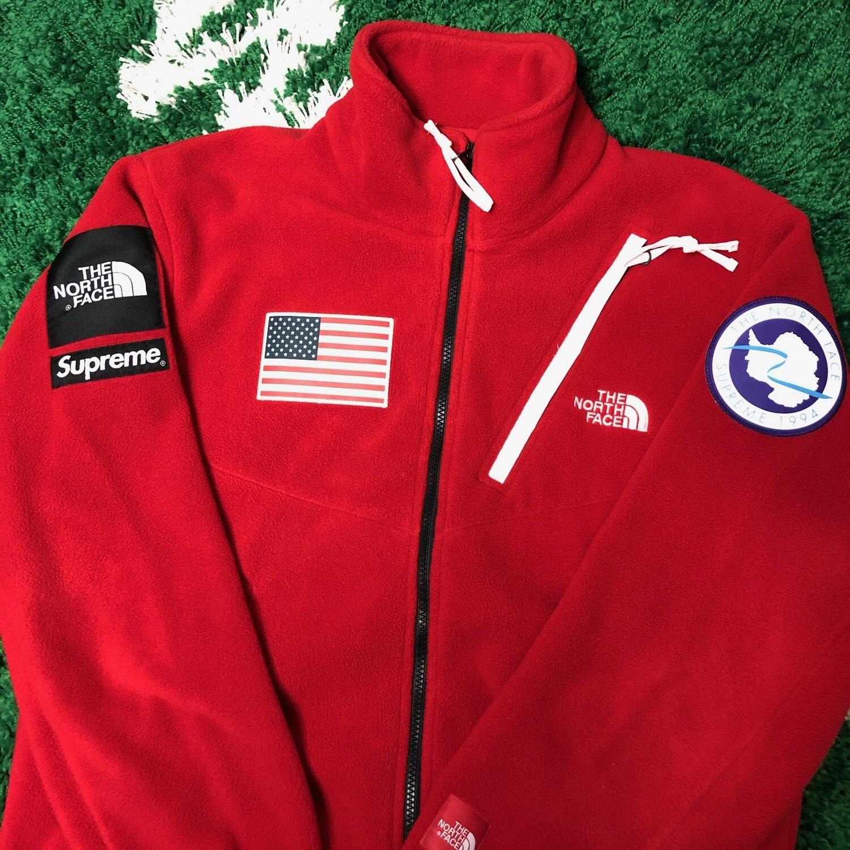 Supreme x The North Face Fleece USA Red Size Medium