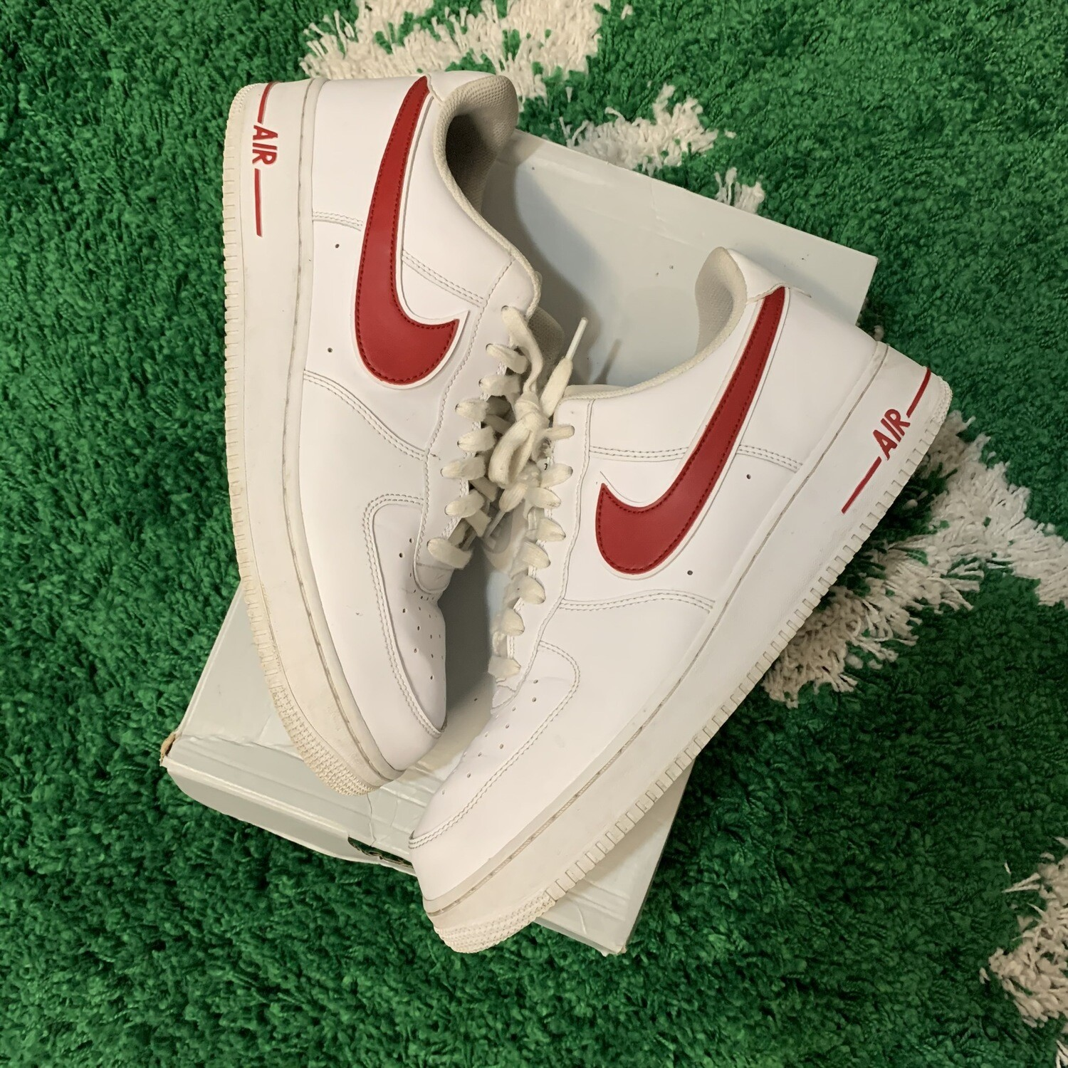 Nike Air Force White/Red Size 13