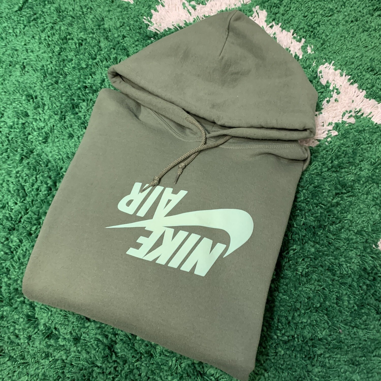Travis Scott Nike Aire Hoodie Army Green Size Large