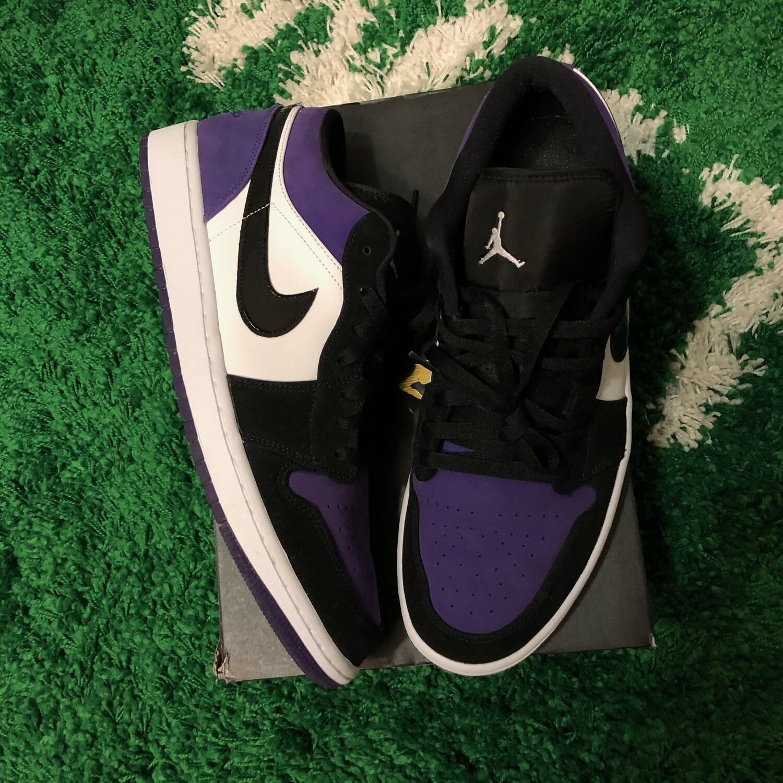 Nike Air Jordan 1 Low Court Purple Size 13