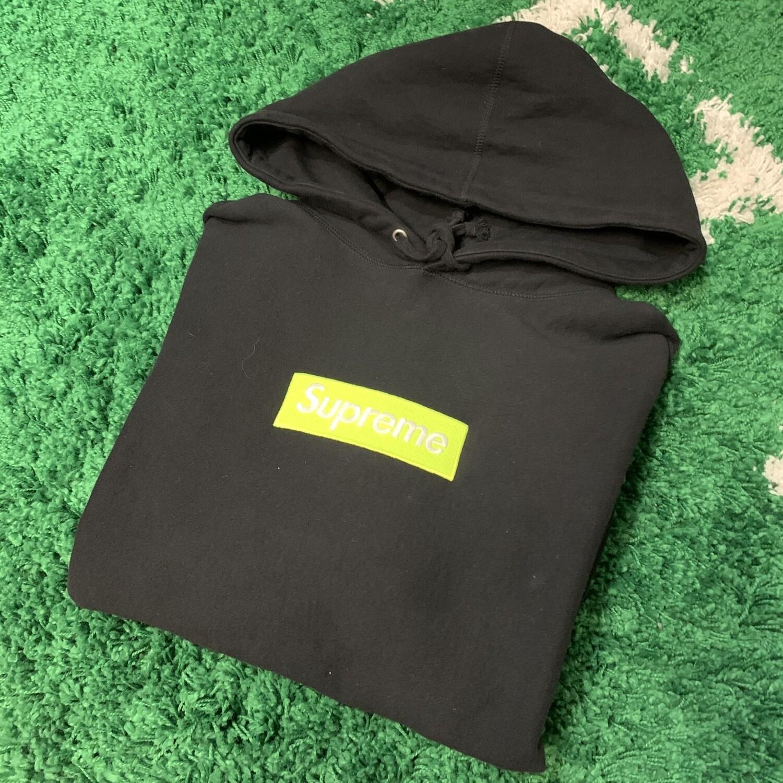 Supreme FW17 Box Logo Black/Lime Size Large
