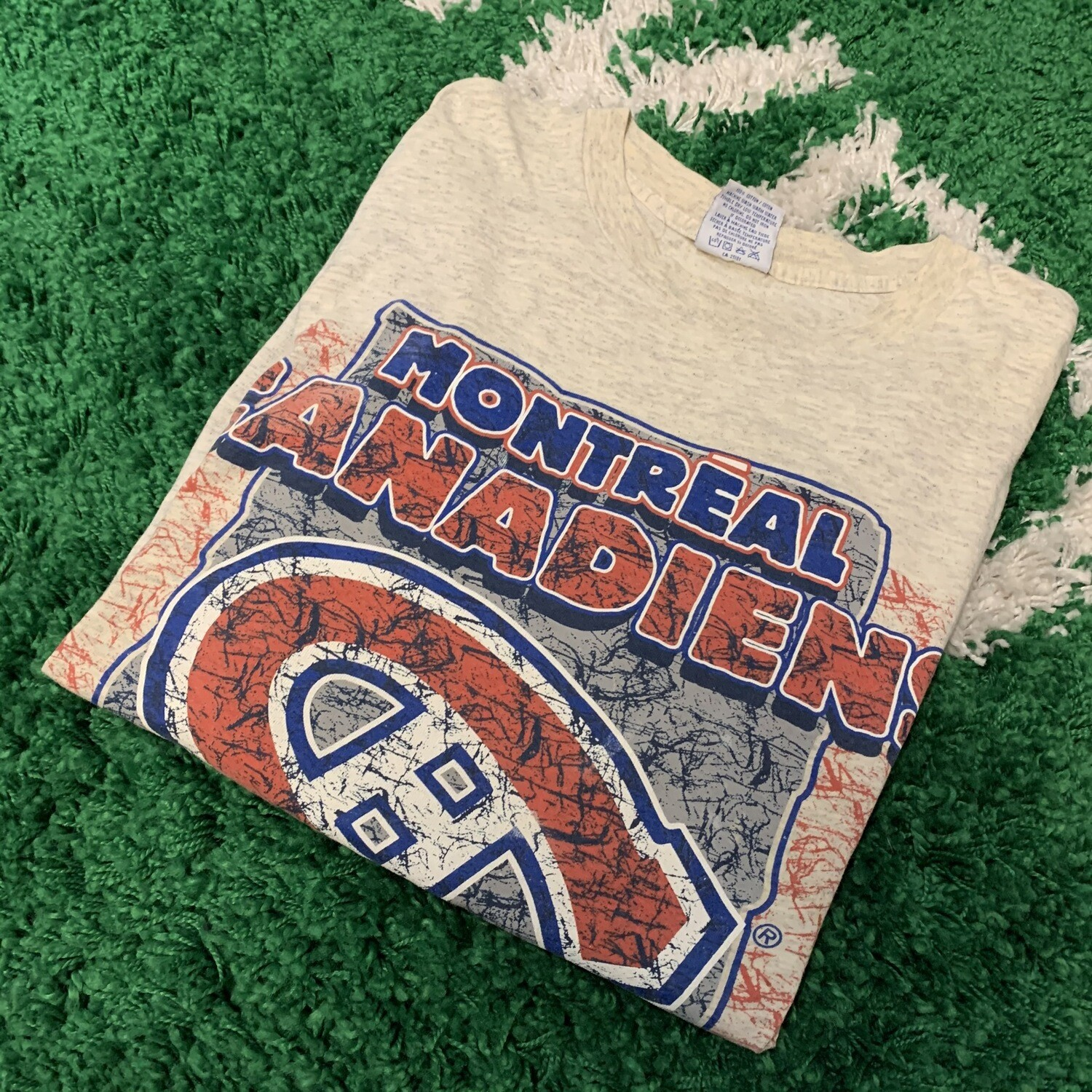 Montreal Canadiens Heather Gray Shirt Size Large