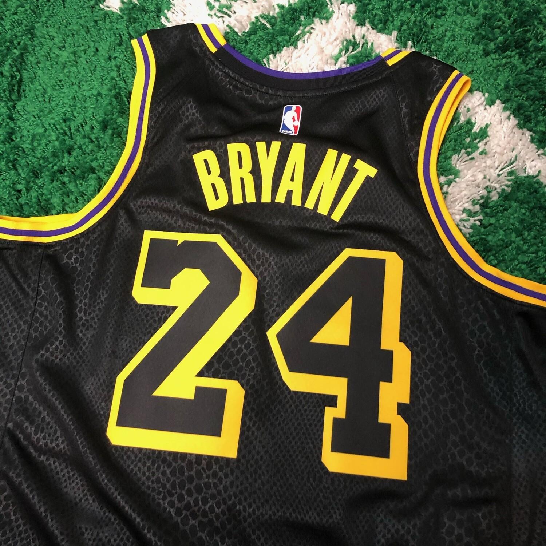 Kope Bryant City Edition Black/Gold Jersey Size Large