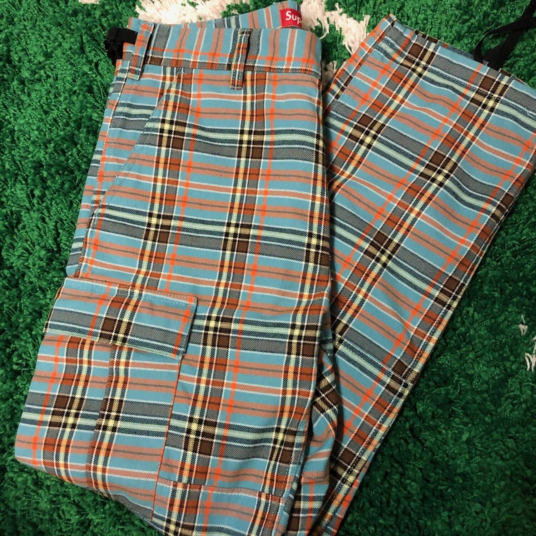Supreme Plaid Cargo Pants Size 32/34