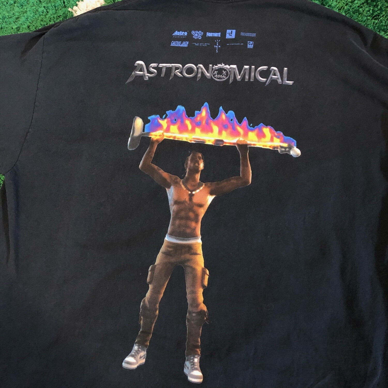 Travis Scott Astronomial T-Shirt Size XL