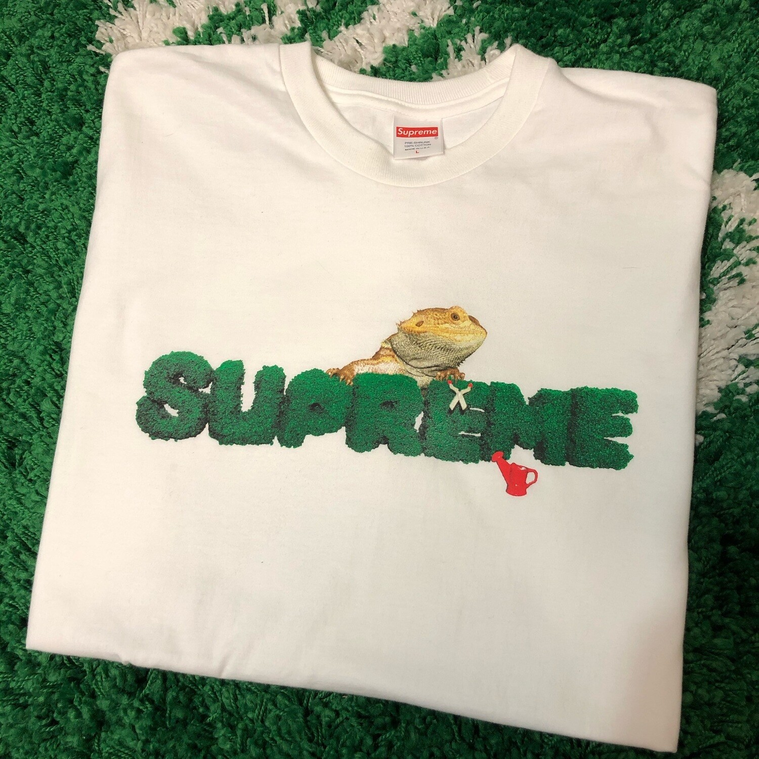 Supreme Lizard Tee White Size Large