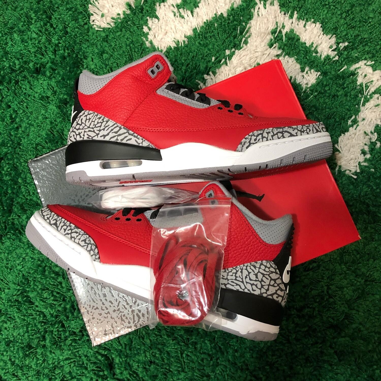 Air Jordan 3 Fire Red Size 9.5