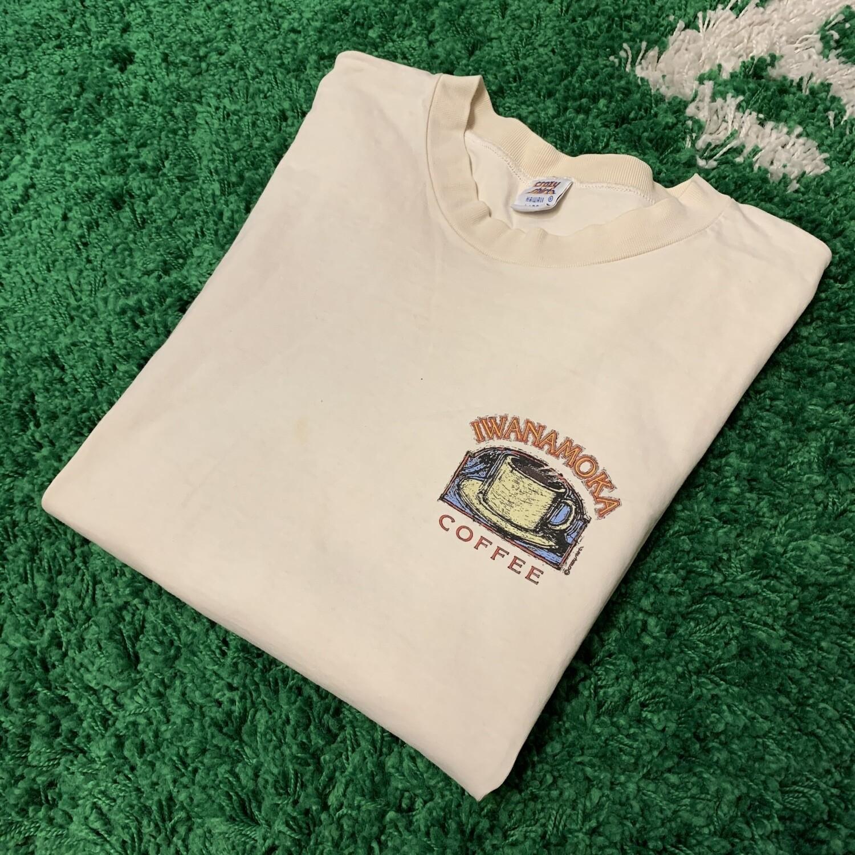 IWANAMOKA Coffee Shirt Size Large