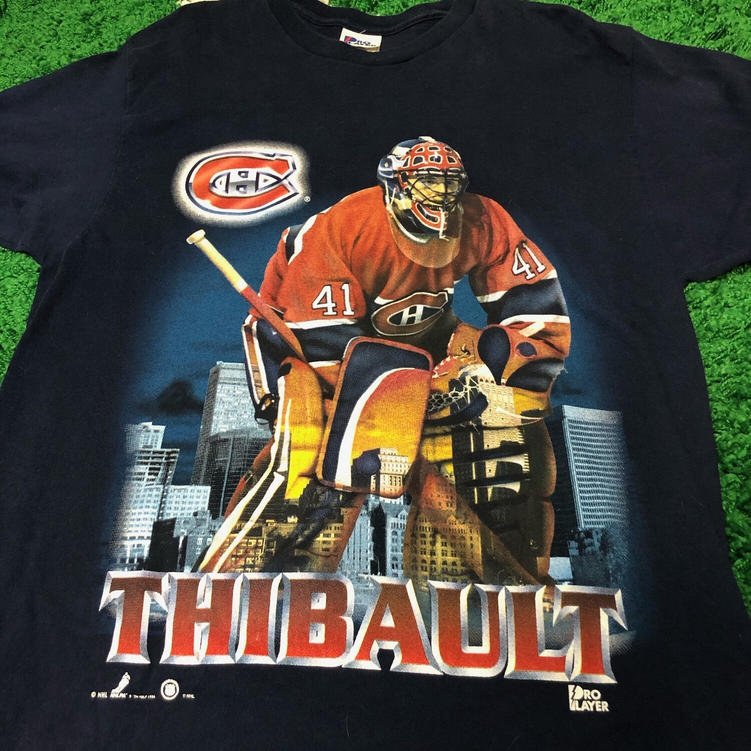 Montreal Canadiens Thibault Tee Navy Size Large