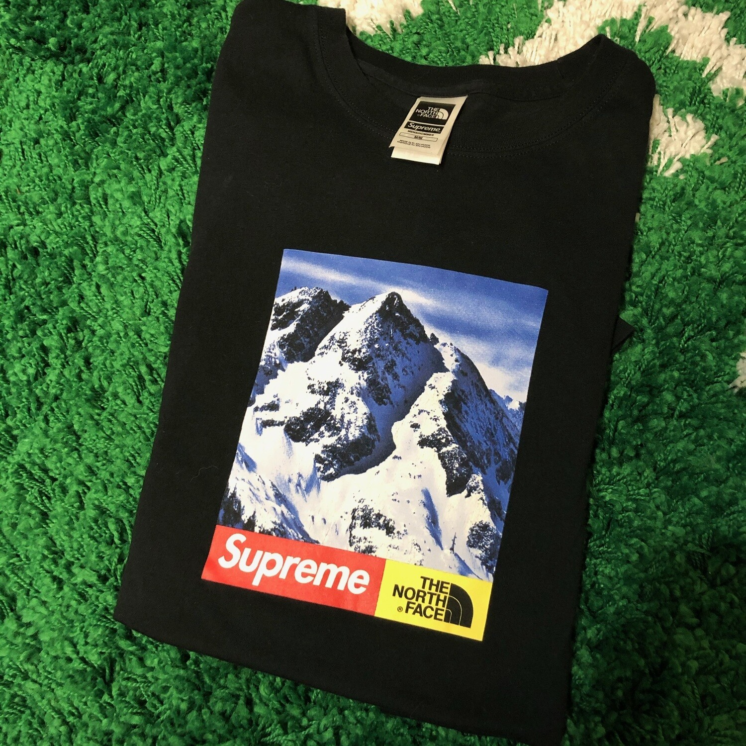 Supreme The North Face Mountain Tee Black Size Medium