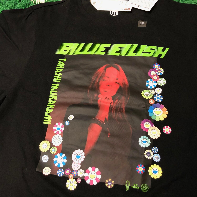 Billie Eilish Takashi Murakami Photo Tee womens Size XS