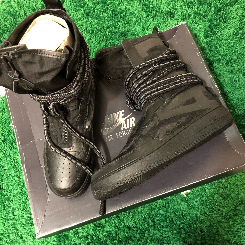 Nike SF Air Force 1 High Black Dark Grey Size 10.5