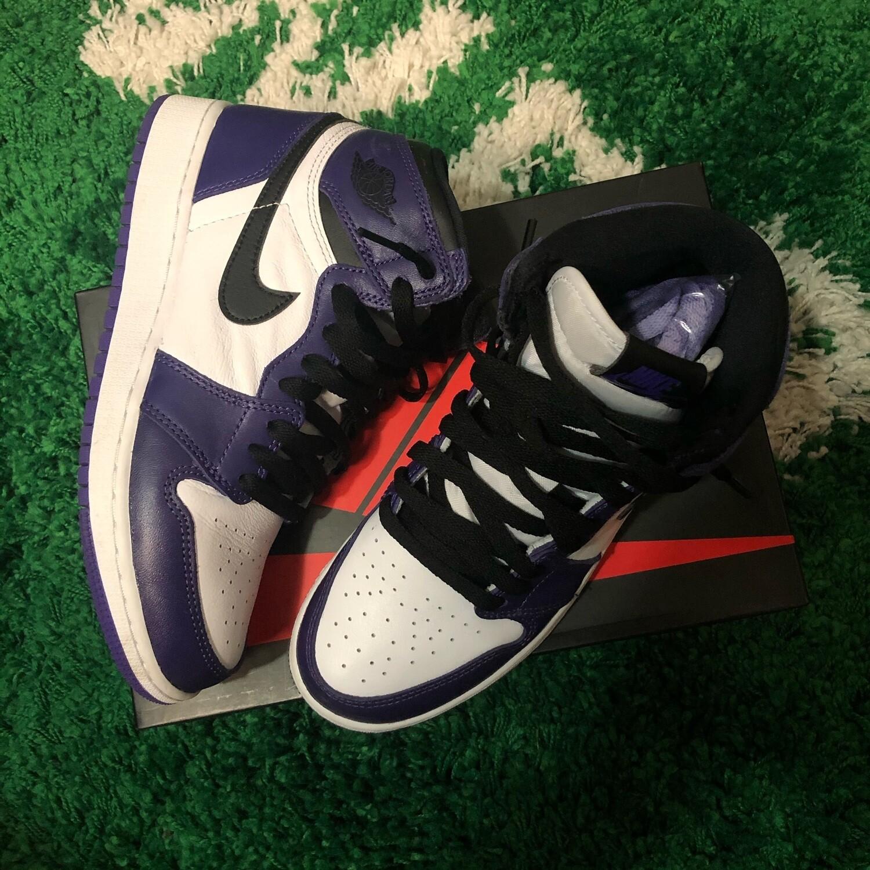 Nike Air Jordan 1 Court Purple Size 6Y
