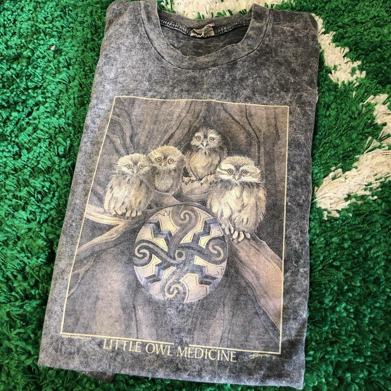 Little Owl Medicine Shirt Size XL