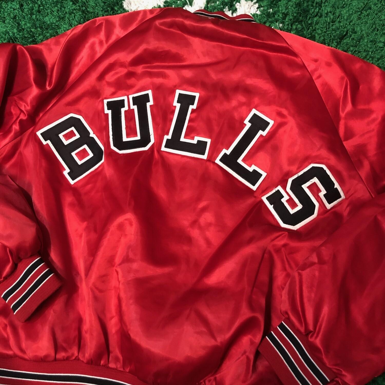 Chicago Bulls Chalk Line Satin Jacket Size XL
