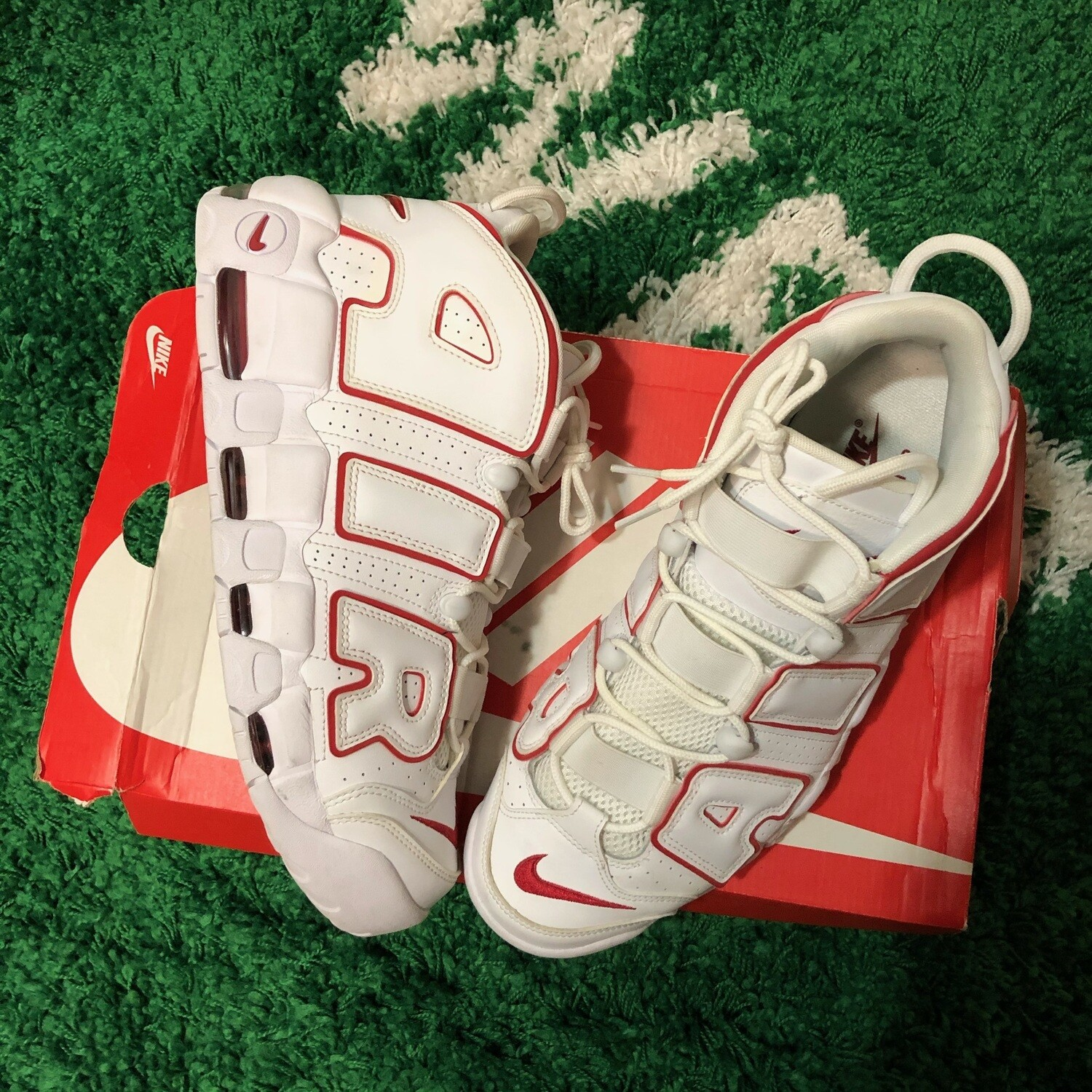 Nike Air Uptempo White/Red Size 12