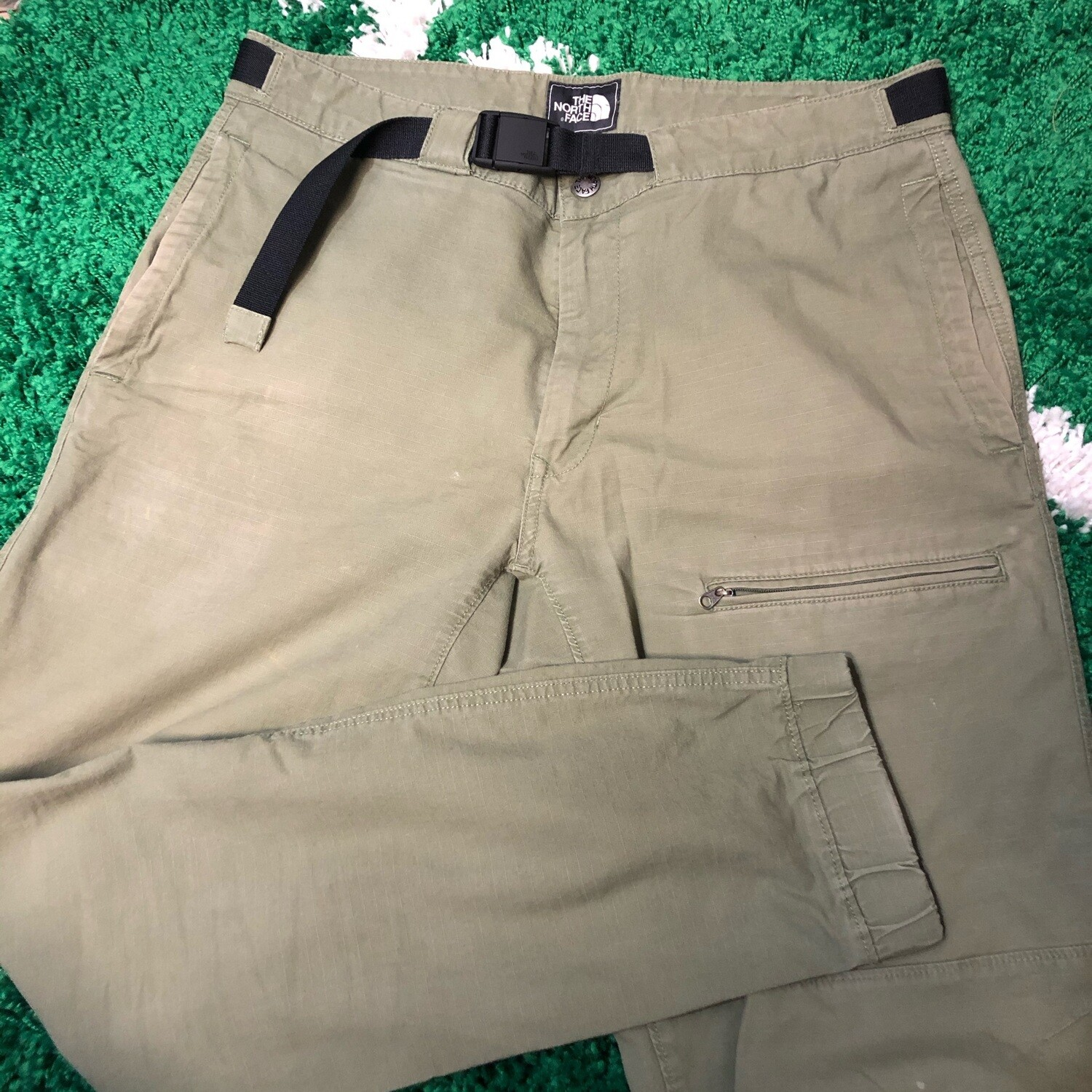 The North Face Olive Hiking Pants Size 34