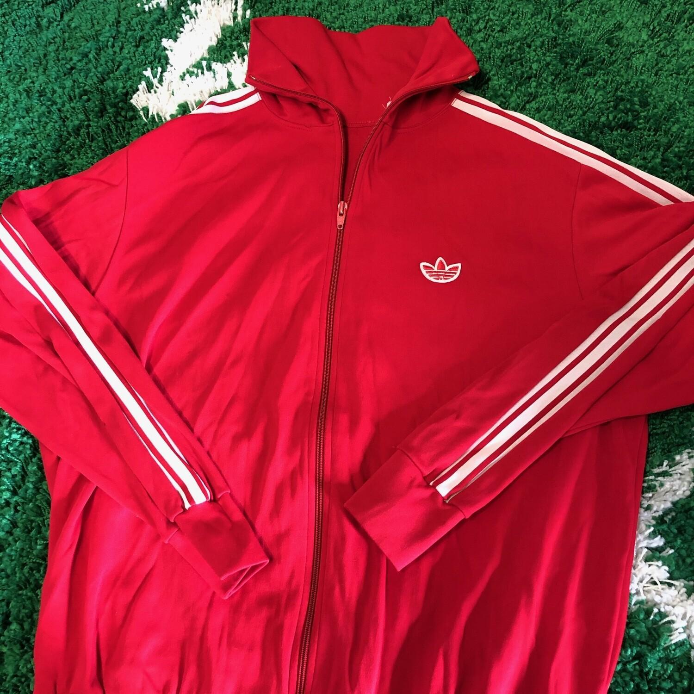 Adidas Track Jacket Red Size Medium