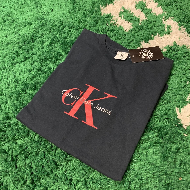 Calvin Klein Black Red Tee Size Large
