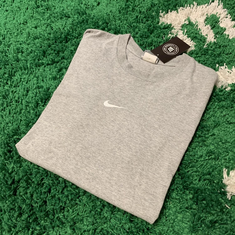 Nike Grey Center Swoosh Tee Size XL