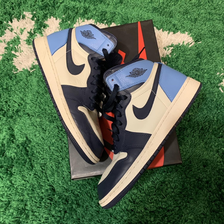 Nike Air Jordan 1 Obsidian Size 7Y