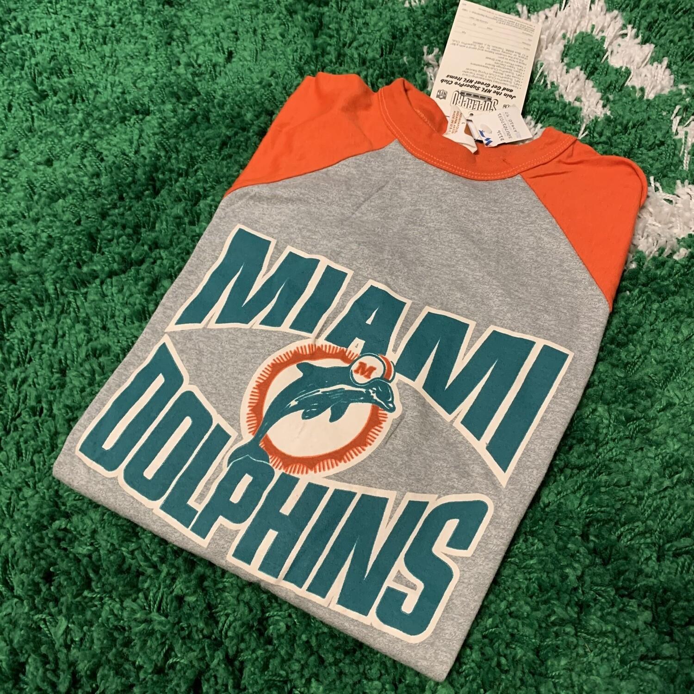 Miami Dolphins Raglan Size Large