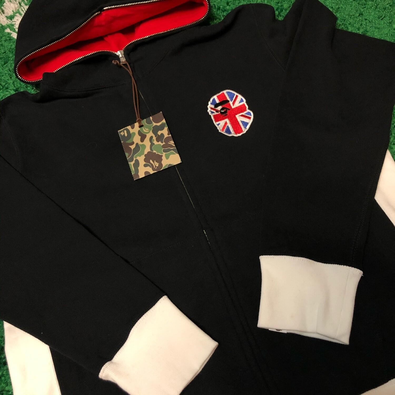 Bape Union Jack Zip Up Size Large