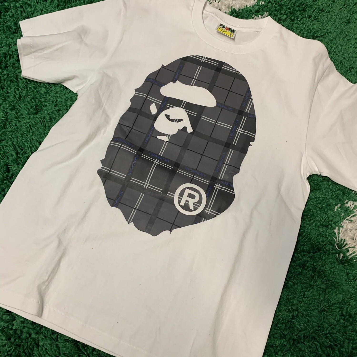 Bape Head Plaid Size Small